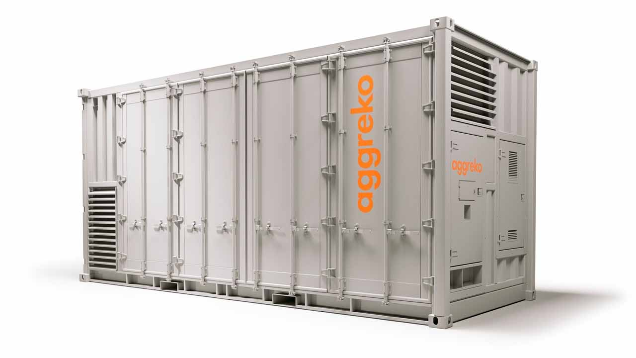 aggreko battery storage container