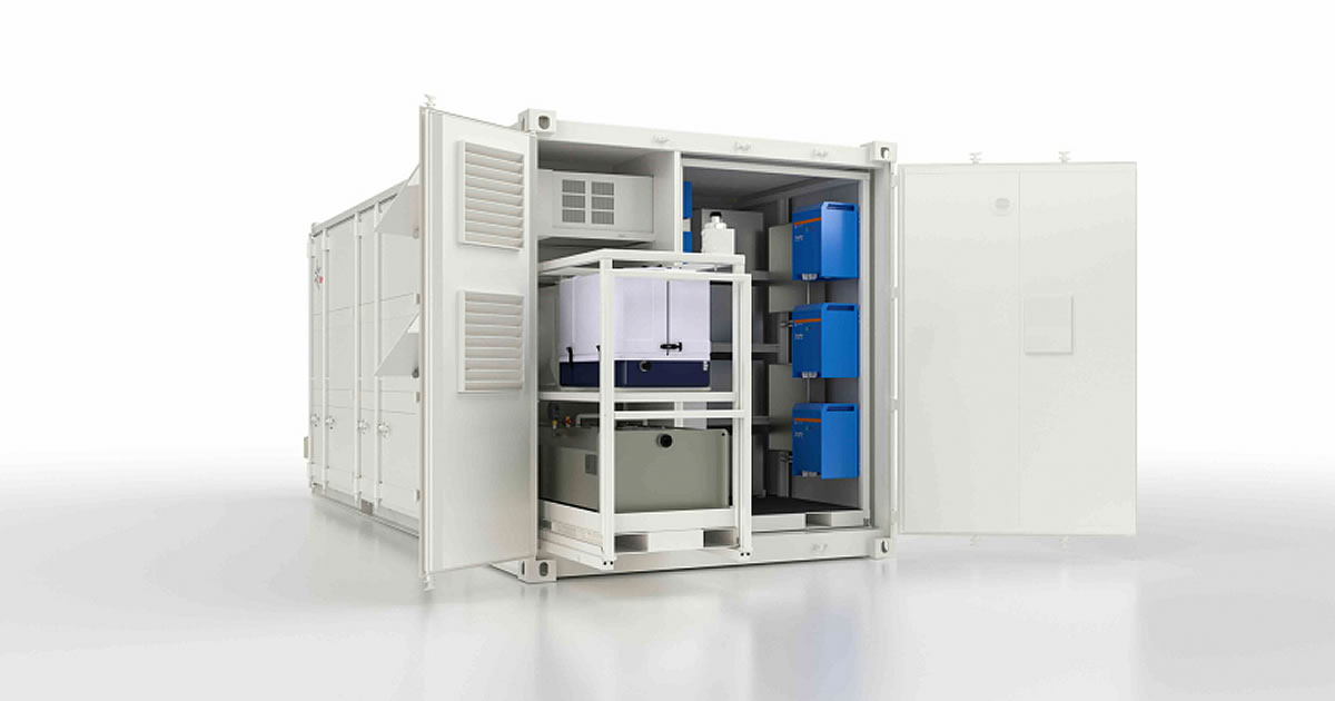 solar power storage shipping container