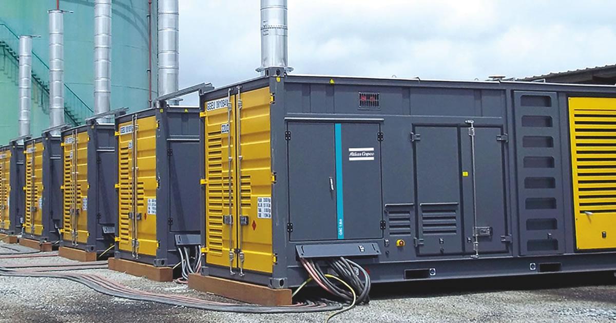 large containerised diesel generators