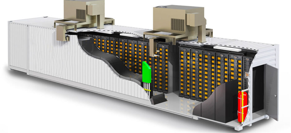 lithium-ion battery shipping container storage